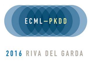 -closed- Papers due to April, 1, 2016, ECML-PKDD, Riva del Garda, September, 19-23, 2016